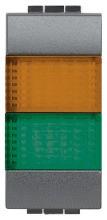 BTICINO L4372AV Doppel-Leuchtsig. Orange/Gruen
