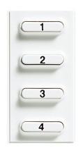 BTICINO 346812 Zusatztasten Pivot 2-Draht