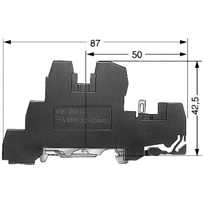 SIEMENS LV 50 Stk. Installations-Reihenklemme 2,5mm² 6mm PE,L,L