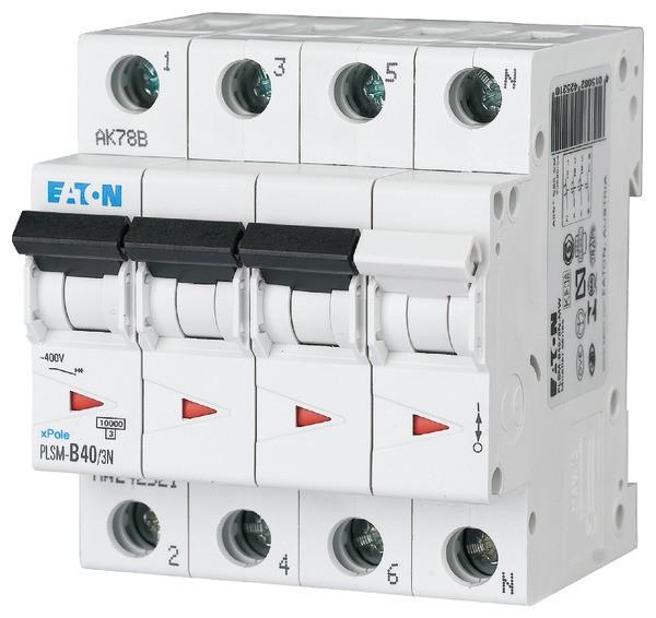 EATON Leitungsschutzschalter LS 40A/3-pol+N/C 10kA