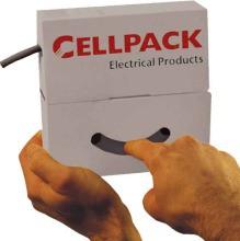 CELLPACK SB 25.4-12.7, orange, - Schrumpfrate 2 : 1. Anwendung: zum Isolieren, Buendeln und Kennzeic