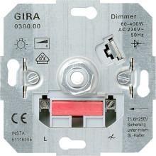 GIRA 030000 Dimmer Drehaus Glühlampe 60-400W Eins.