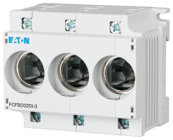 EATON Neozed-Sockel D02 63A 3P, m.Haltefeder D01