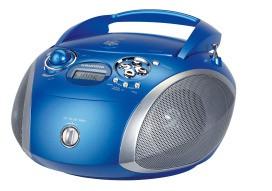 GRUNDIG RCD 1445 USB BL/SI CD-Player,2x1.5W,MP3,USB,blau/silber