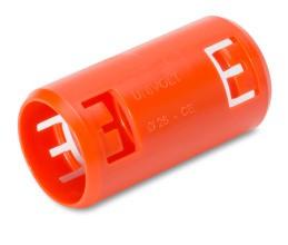 DIETZEL KM-TURBO 20 OR Krallenmuffe, orange für Betonverlegung
