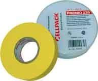 CELLPACK E235 0,18X19X20 GE Premio Klebeband Typ 235, gelb