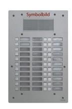 FERMAX AV3030 Türstation UP silber Antivandal 3-reihig mit 30 Tasten