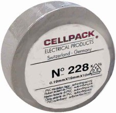 CELLPACK E228 0.19-19-20 WS PVC-Isolierband, weiss