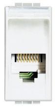 BTICINO e: RJ11, Anschlussart: 1/4-Drehung, Farbe: weiß AufputzJaUnterputzJaKanaleinbauJaBo