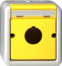 GIRA 027130 Gehaeuse Taster m.22,5mm WG AP grau