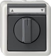 GIRA 015430 SchalterTaster Jalousie 1pol WG AP grau