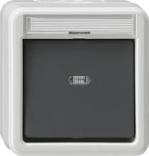 GIRA 011630 Wippschalter Kontroll WechselWG AP grau