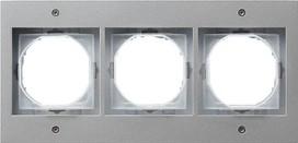 GIRA 021365 Rahmen 3-fach, TX_44, alu