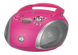 GRUNDIG RCD 1445 USB PI/SI CD-Player,2x1.5W,MP3,USB,pink/silber