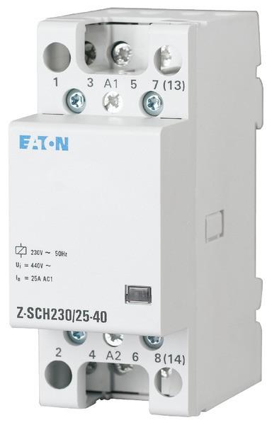 EATON Z-SCH230/25-40 Insta-Schütz 4Schl. 25A/230VAC brummfrei 2TE