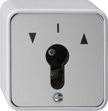 GIRA 016330 chlüsseltaster Wechsler WG AP grau