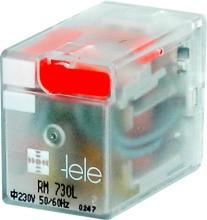 TELE-HAASE SET RM024LD+RSS214 Miniaturrelais, 24VDC, 4 Wechsler, LED, Freilaufdiode