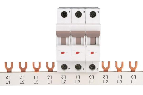 EATON Blockverschienung (Gabel) Z-GV 1m o.Endk. 16mm², 80A, 4-ph
