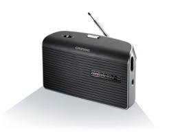 GRUNDIG MUSIC 60 GRAU Radio,0.75W,UKW/MW,Netz/Batterie,grau