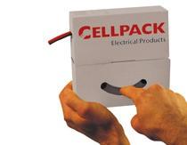 CELLPACK SB 1,5-0,5 GG Schrumpfschlauchbox ohne Kleber gelb/grü