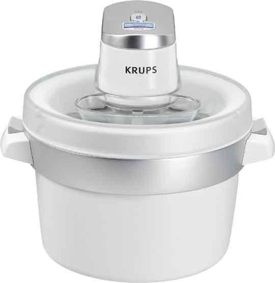 KRUPS Eismaschine,1.6L.,LCD-Disp,autom.,chr-ws