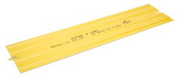 DIETZEL KPL 120/10/SLER INL006 STARKSTROMK. Kabelabdeckplatte, gelb, ''Achtung Starkstromkabel'