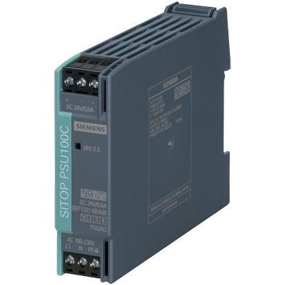 SIEMENS SITOP PSU100C 1Ph.Eing.120/230VAC(110/300VDC),Ausg24VDC/0,6A
