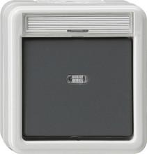 GIRA 011230 Wippschalter Aus 2pol Kontroll WG AP grau