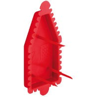 KAISER 1181-48 Signal-Deckel rot f.Wandleuchten-Anschlußdosen
