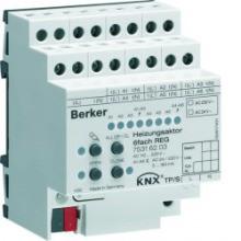BERKER 75316203 KNX Heizungsaktor 6fach Triac 230V REG