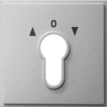 GIRA 066465 Abdeckung Schlüsselschalter TX_44 alu