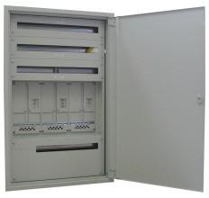 MEHLER UMZV3-4C OS/TN Zählerverteiler UP,3ZP,3x34TE,EAG/LINZ-AG,B790xH1230xT245mm