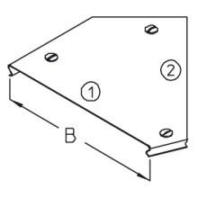 DIETZEL RBDR45 20S Rinnenbogendeckel m.Riegel svz. B=0,2m