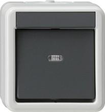 GIRA 010230 Wippschalter Aus 2pol WG AP grau