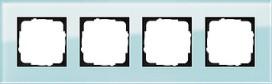 GIRA 021418 Abdeckrahmen 4fach Esprit Glas Mint