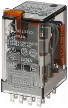FINDER 55.34.8.230.0040 7A 4W Industrierelais 4 Wechsler 7 A/Spule 230 V AC Prüftas.+Anz.
