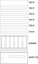EATON BP-U-3S-STN-800/17-3Z Unterputz-Zaehlerverteiler ST