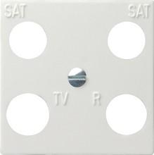GIRA 025803 Zentralplatte 4fach Hirschmann Sys55 rws