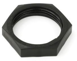 DIETZEL HLN 16 SW HFT - Gegenmutter für HFT - Verschraubung, schwarz