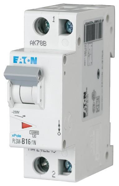 EATON PLSM-B16/1N-MW LS-Schalter 16A/1pol+N/B