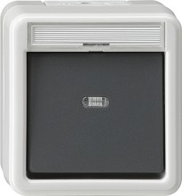 GIRA 015230 Wipptaster Meldekontakt WG AP grau