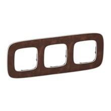 LEGRAND 754453 V.All 3Fach Rahmen Leder