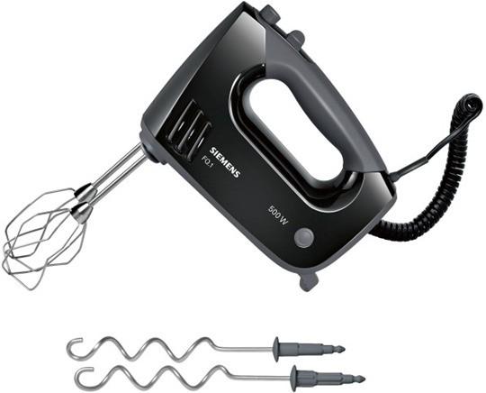 SIEMENS BSHG CP MQ96500 Handmixer 500W - schwarz-grau