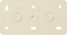 GIRA 008013 Montageplatte 2fach Kombinationen AP