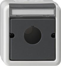 GIRA 027230 Abdeckung+Tragring Geraete m.22,5mm WG AP grau