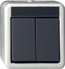 GIRA 015530 Wipptaster Serien WG AP grau