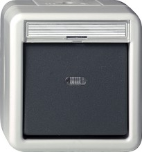 GIRA 015630 Wipptaster Wechsler WG AP grau