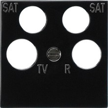 GIRA 025910 Zentralplatte 4fach fuba ECG Astro Zub. sw