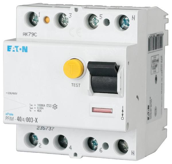 EATON PFIM-40/4/003-XG FI-Schutzschalter AC 40A/4 30mA 'XG' 3kA