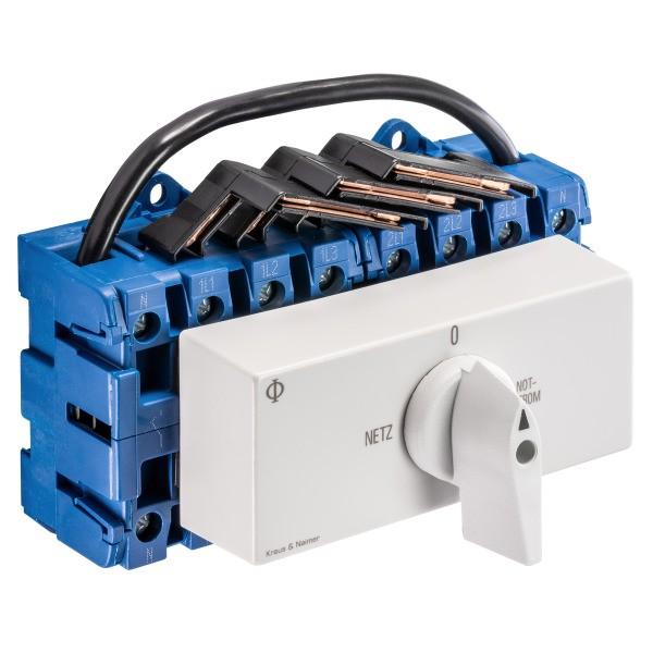 KRAUS&NAIMER Netz-0-Notstrom Umschalter 4-polig, 63A KG64B.K950.VE2.F437